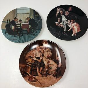 NORMAN ROCKWELL Knowles Plates  1997 1998 1999